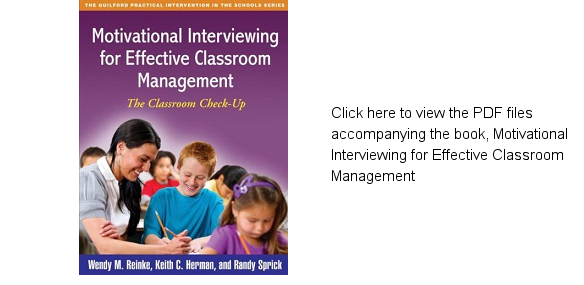 Book cover for Motivational Interviewing for Effective Classroom Management